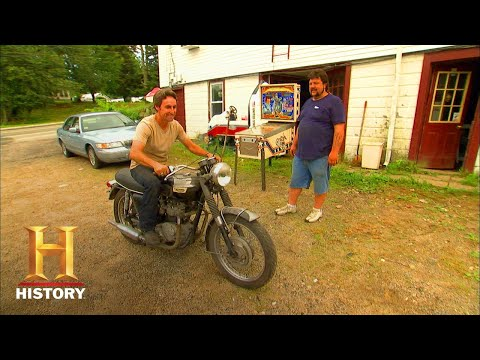 American Pickers: TRIUMPH MOTORCYCLE AMPS MIKE UP (Season 3) | History