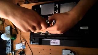 разборка, чистка и замена термопасты ноутбука 17,3