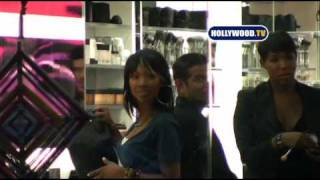 Brandy And Kelly Rowland Shop At MAC On Robertson Blvd.