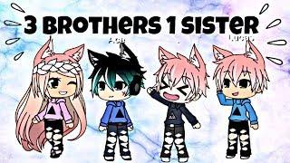 *3 Brothers 1 Sister* // Gacha Life Mini Movie // ChelseaDaPotato