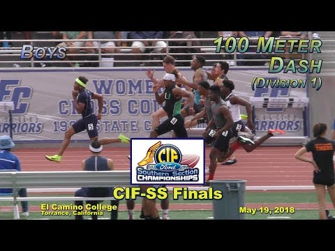 2018 TF - CIF-ss FINALS - 100 (Boys - D1)