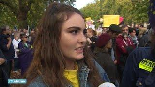 Megademonstratie in Londen tegen brexit  - RTL NIEUWS