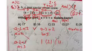 Karekök tam sayılar doğal sayılar test 9