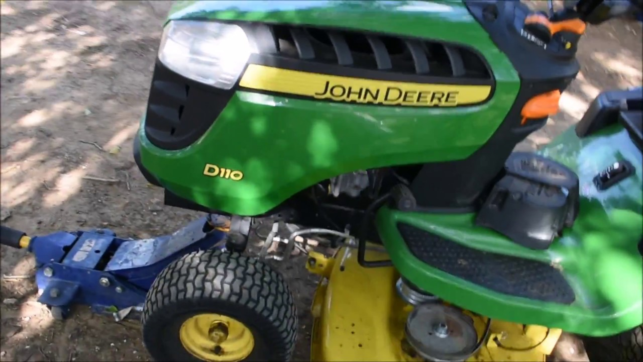 belt diagram d110 john deere d110 pulley and blades install youtube  john deere d110 pulley and blades
