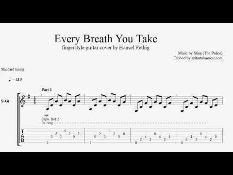 Every Breath You Take TAB - Fingerstyle Guitar Tab - PDF - Guitar Pro