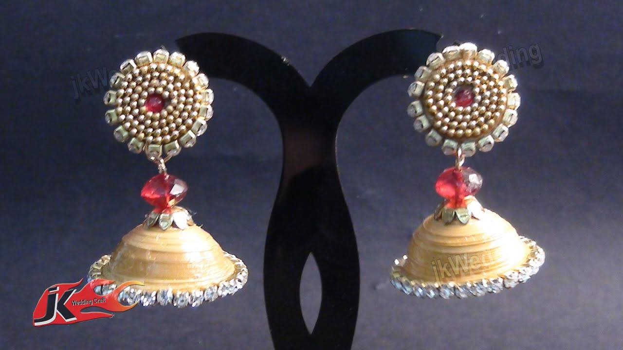 DIY Paper Quilling Jhumka and Stud | How to make | JK Wedding ...