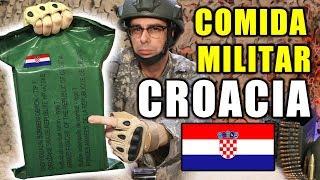 Probando COMIDA DE SUPERVIVENCIA MILITAR de CROACIA Ración 24 Horas   MRE Croacia Menú 7