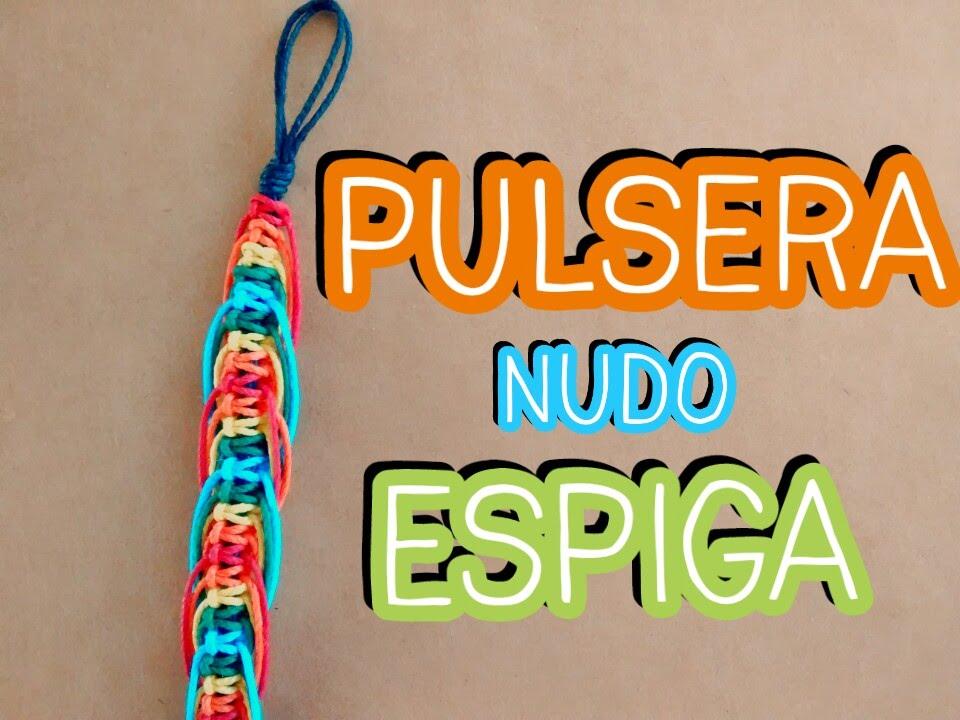 c8b1b677685e ► PULSERA macrame en nudos ESPIGA // Pulseras de hilo ENCERADO ◄