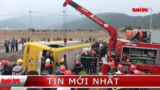 ⚡ NÓNG | Lật xe khách về quê đón Tết, 2 người tử vong, nhiều người bị thương