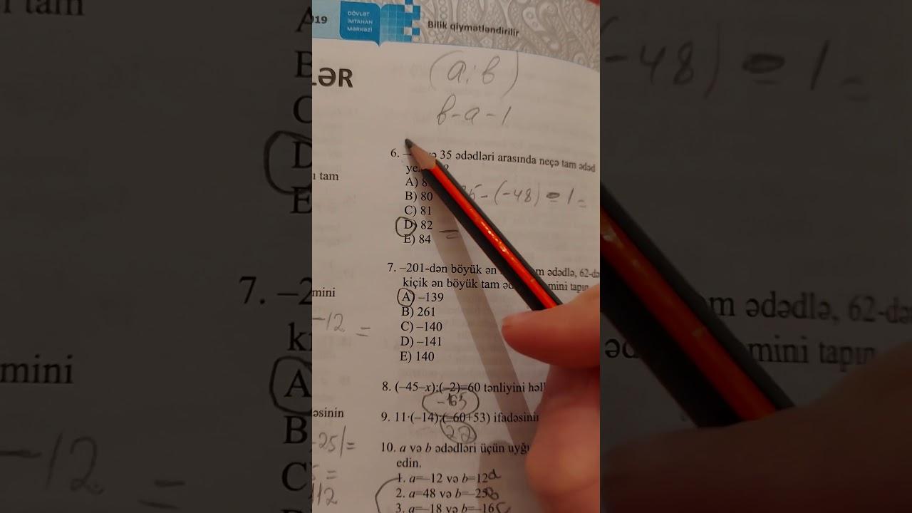 6-cı sinif Dim testindən 2-ci yarımil üzrə yekunlaşdırıcı test tapşırıqları.E variantı