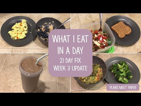 What I Eat in a Day   Healthy   21 Day Fix