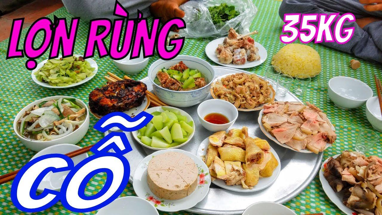 Ẩm Thực Cỗ Giỗ Thịt Lợn Rừng Ngon Hơn Thịt Chó Của Nông Dân Quê Lúa Thái Bình/Vietnamese cuisine