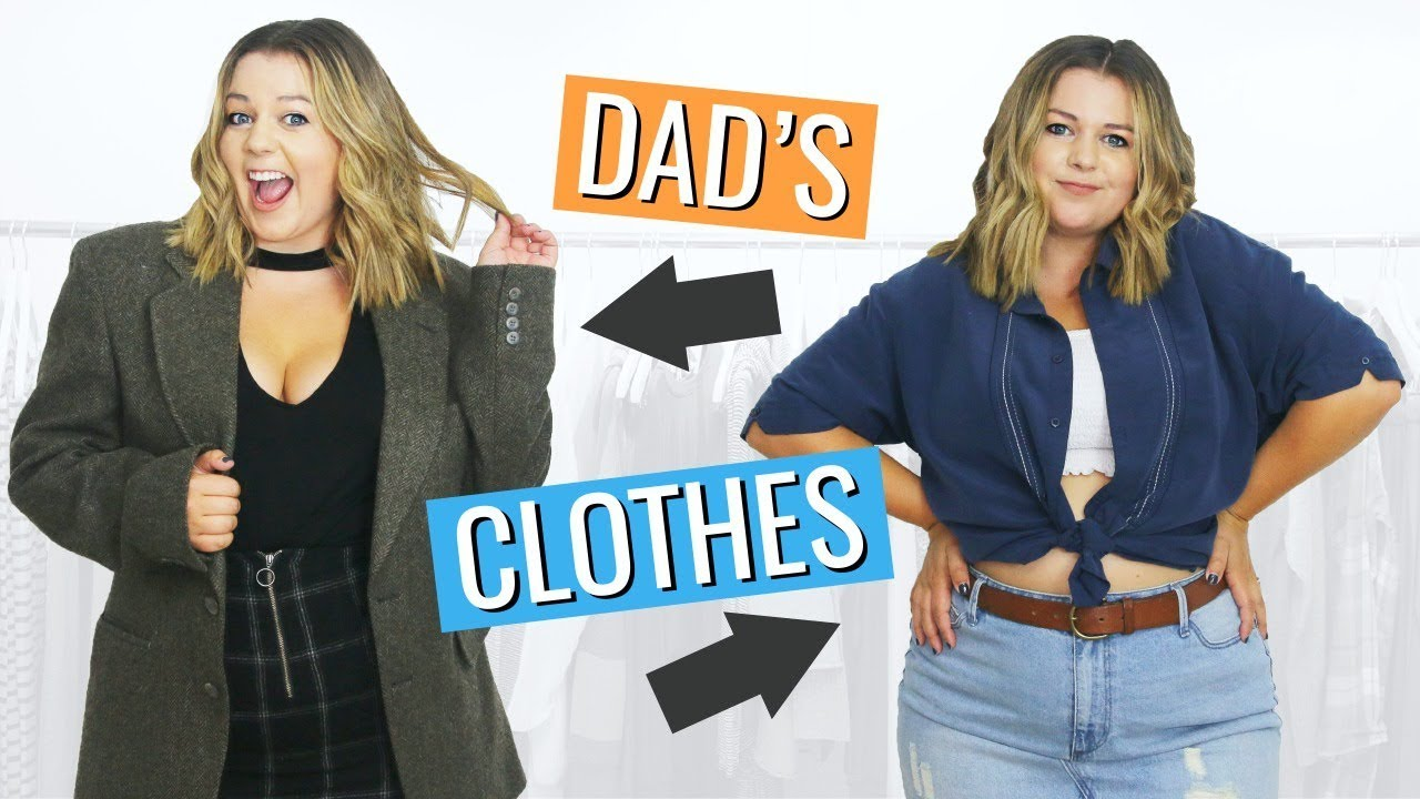 I Tried to Style My Dad's Clothes Into Trendy Outfits