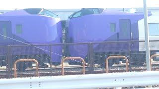 キハ261系5000番台ラベンダー編成神戸タ停車中の様子