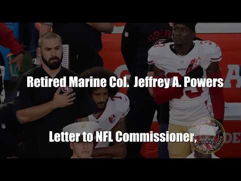 Retired Marine Col. Jeffrey A. Powers Letter to the NFL