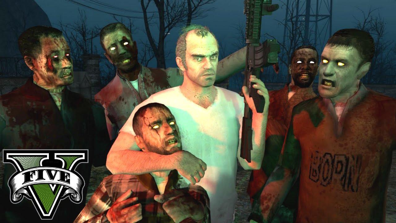 gta 5 zombies mod gameplay garry 39 s mod gmod youtube. Black Bedroom Furniture Sets. Home Design Ideas