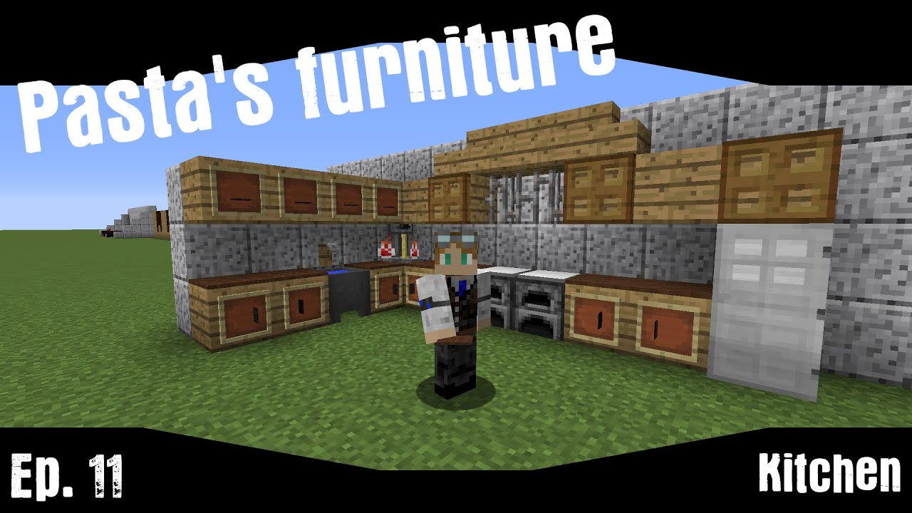 pasta s furniture ep11 kitchen minecraft vanilla