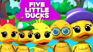 пять маленьких уток детские стишки для детей Five Little Ducks песня в россии для детей