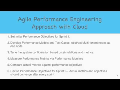 Agile Performance Engineering with Cloud - 2016