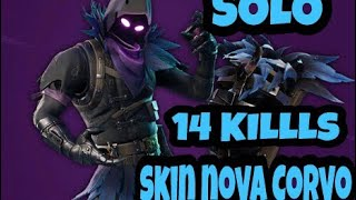 FORTNITE: SOLO 14 KILLS WITH THE NEW RAVEN SKIN