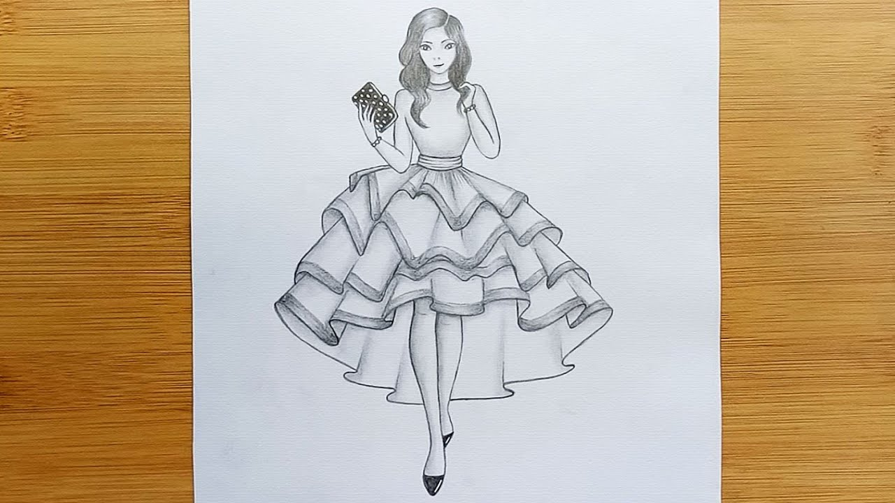 How To Draw A Girl With Beautiful Dresses Art Tutorial Pencil Sketch Youtube Use them in commercial designs under lifetime, perpetual & worldwide rights. how to draw a girl with beautiful dresses art tutorial pencil sketch
