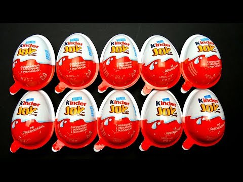 Thumbnail: 10 Kinder Joy Surprise Eggs Unboxing with Toys