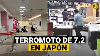 Terremoto de magnitud 7,2 sacude el noreste de Japón y activa la alerta de tsunami