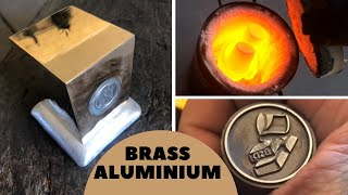 Aluminium Core Brass Block with New Personal Stamp & Crucible Tempering