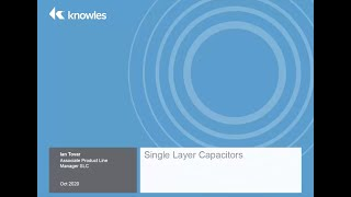 Knowles Webinar - SLC for Amplifier Bypass, DC Blocking