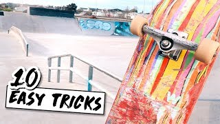 10 EASY TRICKS TO LEARN AT THE SKATEPARK