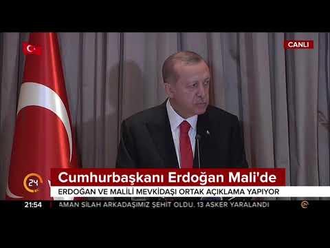 Cumhurbaşkanı Erdoğan, Malili mevkidaşıyla ortak açıklama yaptı