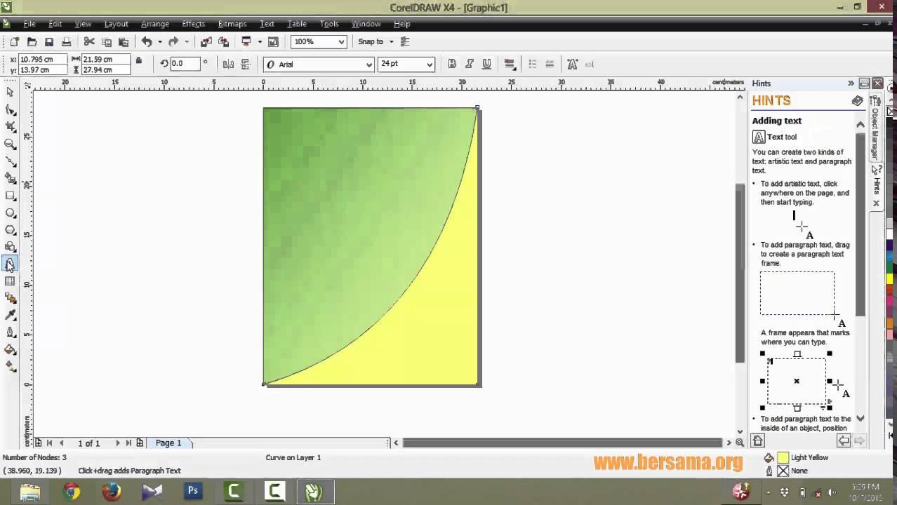 Tutorial Corel Draw - Membuat Cover Buku Sederhana - YouTube