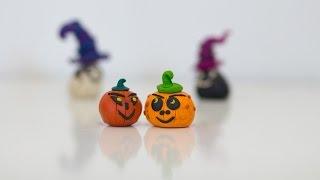 Лепка из пластилина. Тыква на Хэллоуин, Halloween pumpkin.
