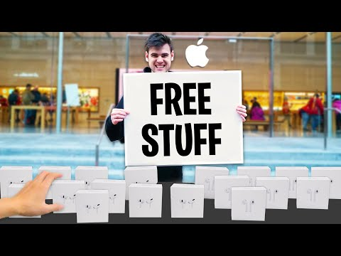 I Opened A FREE Apple Store, Next To The Apple Store...