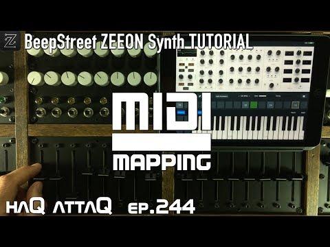 BeepStreet ZEEON Synth iPad AUv3 │MIDI Learn and Mapping TUTORIAL - haQ attaQ 244