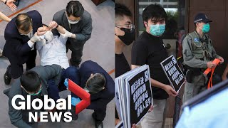 """the End Of Hong Kong"": Activists Protest Against China's National Security Law Proposal"