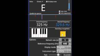 Music Companion demonstration Tuner.avi