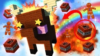 Minecraft - BLOWING UP OUR CHRISTMAS BUILD BATTLE! (Minecraft Minigame)