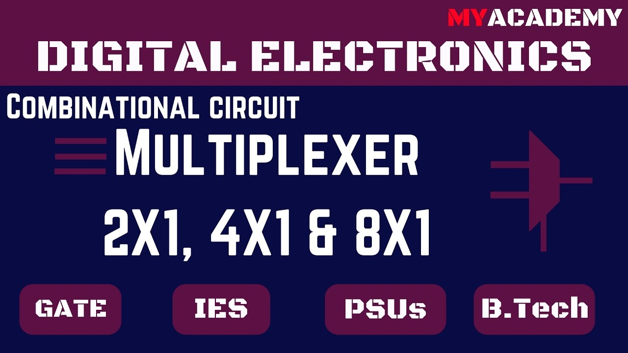 Multiplexer In Digital Electronics Myacademy Youtube And Demultiplexer Circuit Diagrams Applications