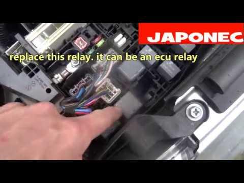Toyota Avensis fault code reset P1604 no start / ECU efi relay?
