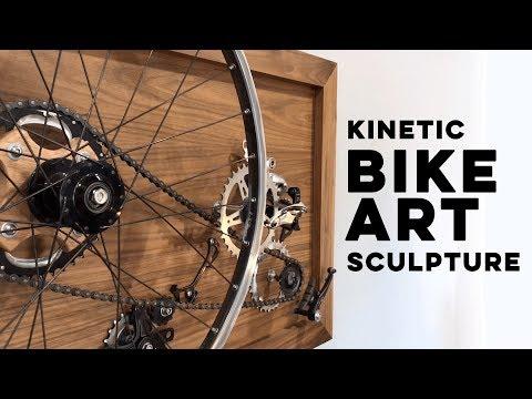 Kinetic Bike Art Sculpture // DIY Custom Moving Art //