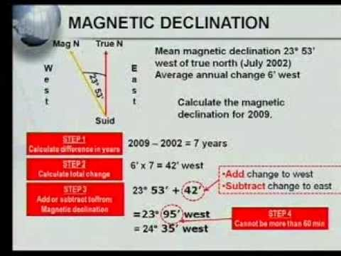 Matric revision: Geography:  Map Work: Calculations (4/7): Magnetic Declination