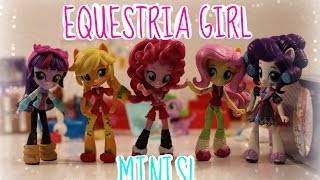 MLP Equestria Girl MINIS Slumber Party Sets! (Unboxing/review)