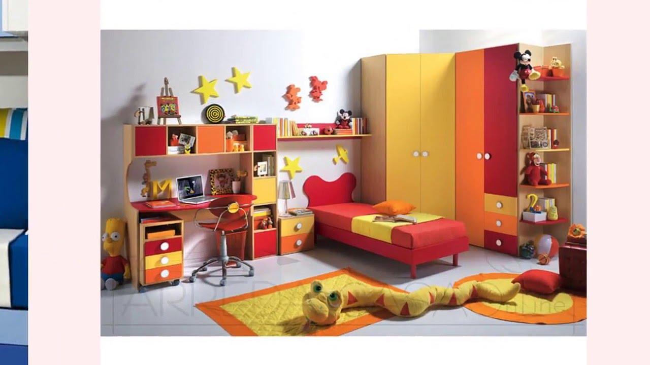 Camerette bambini con cabina armadio youtube for Camerette bambini online