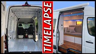 CamperVan Start To Finish | Van Build | Sprinter Conversion Timelapse
