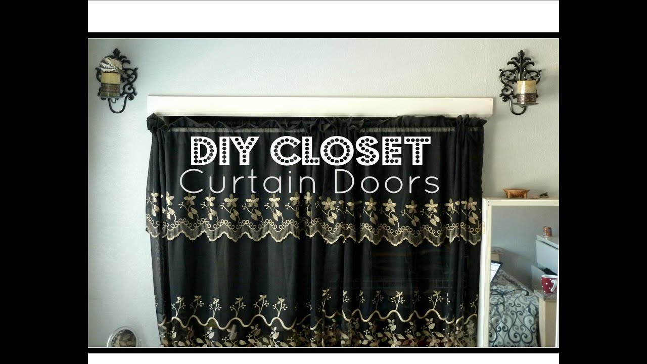 DIY Closet Curtain Doors │ Cheap Easy Room Decor   YouTube
