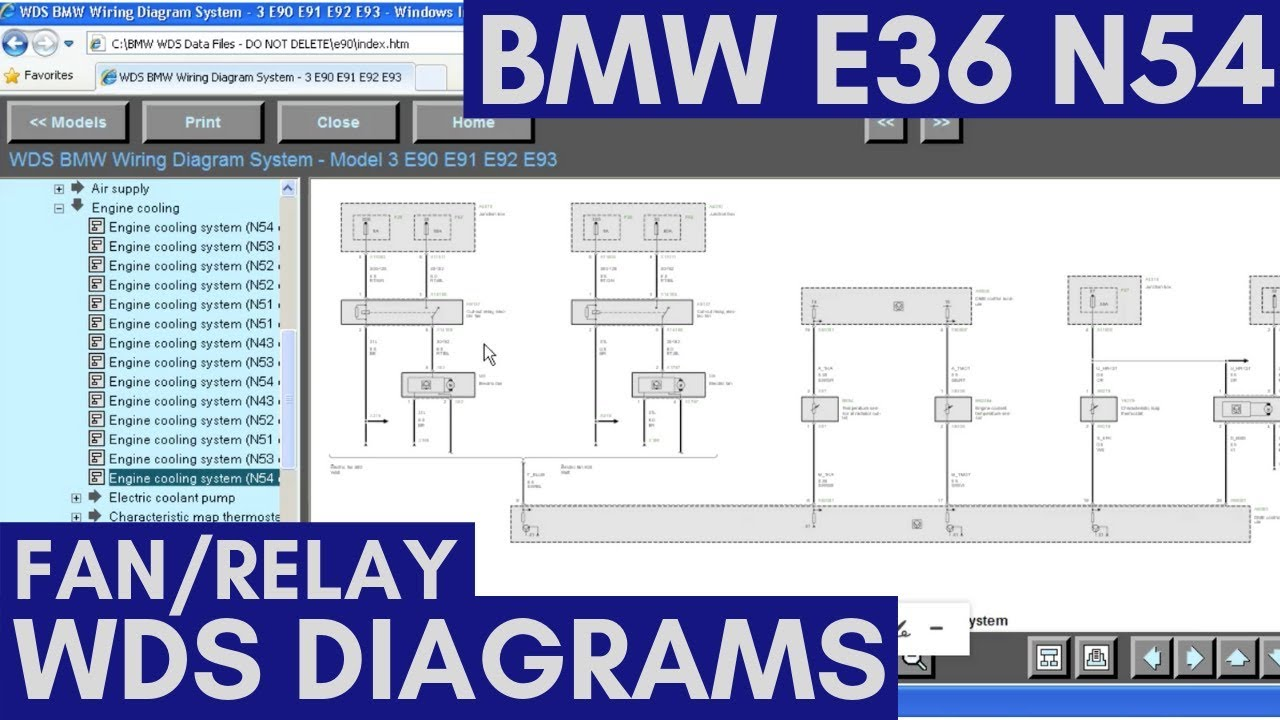 bmw wiring diagram system e36 let s wire a bmw n54 pwm cooling fan and learn how to read  let s wire a bmw n54 pwm cooling fan