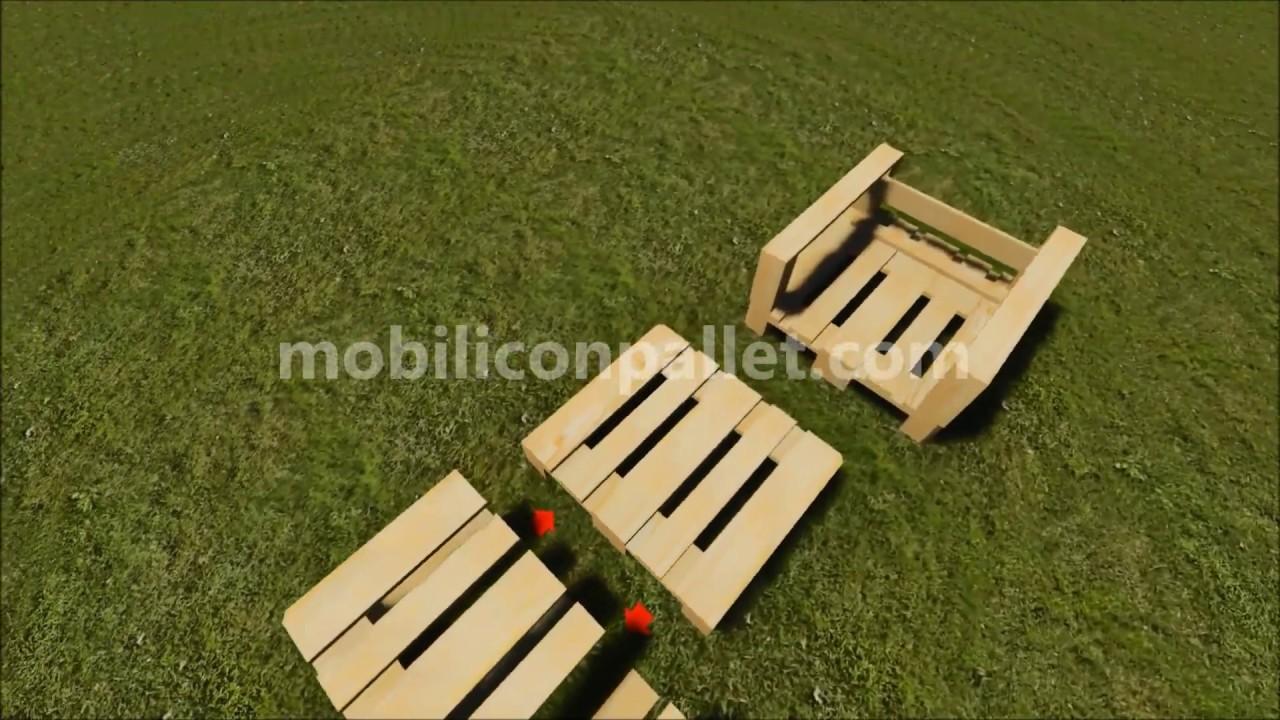 Costruire Sdraio In Legno.Poltrona Da Giardino In Pallet Youtube