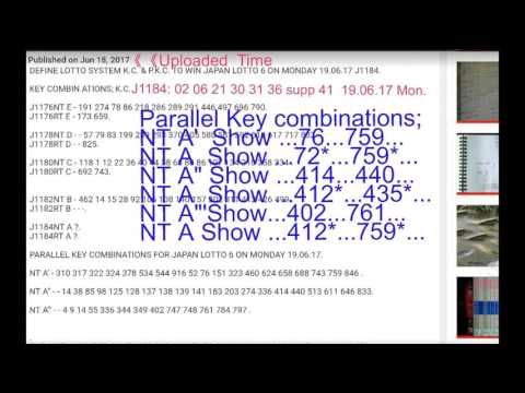 REVIEW JAPAN LOTTO 6 HOW TO WIN ON MONDAY 19.06.17 J1184 V.2.