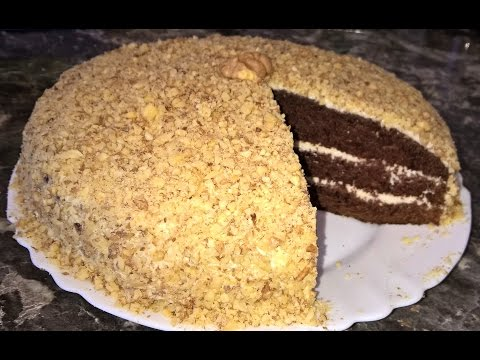 Шоколадный торт на кефире Фантастика. Шоколадный торт на скорую руку. Шоколадный торт с орехами.